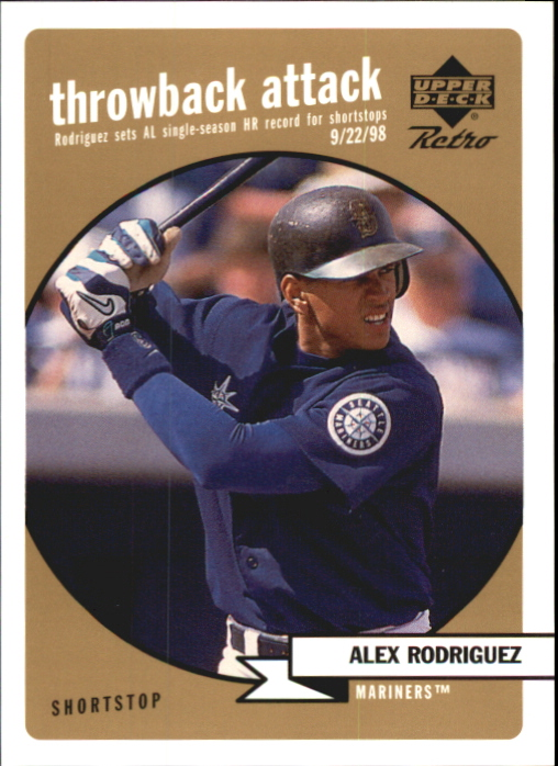1999 Upper Deck Retro Throwback Attack Level 2 #T6 Alex Rodriguez