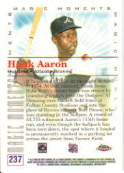 2000 Topps Chrome #237D H.Aaron MM 715th HR back image