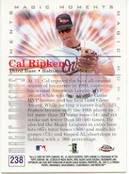 2000 Topps Chrome #238B C.Ripken MM 1991 MVP back image