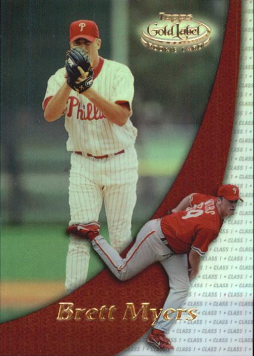 2000 Topps Gold Label Class 1 #91 Brett Myers RC