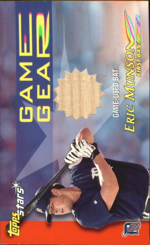 2000 Topps Stars Game Gear Bats #GGB7 Eric Munson C