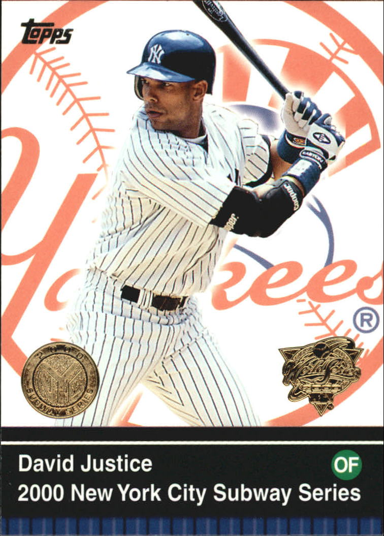 2000 Topps Subway Series #35 David Justice