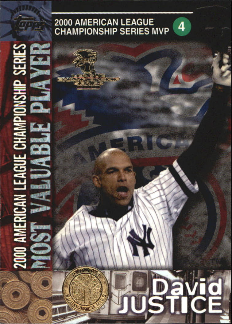 2000 Topps Subway Series #99 David Justice