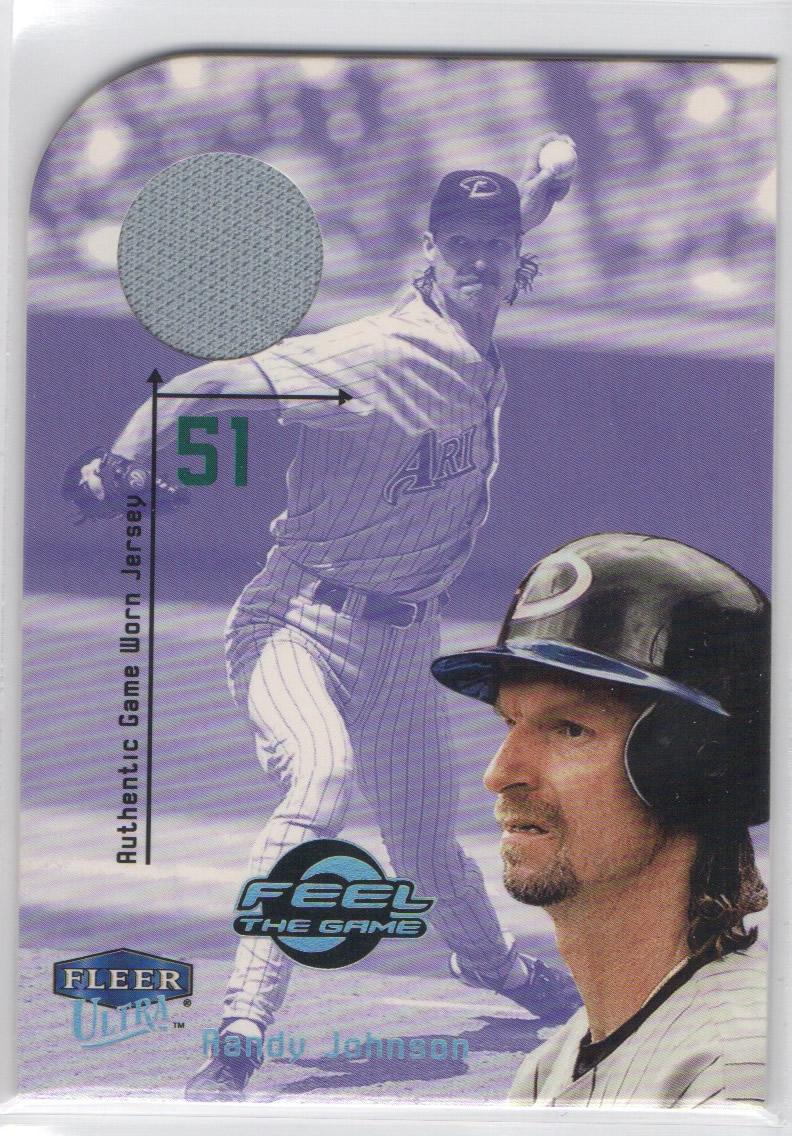 2000 Ultra Feel the Game #9 Randy Johnson Jsy