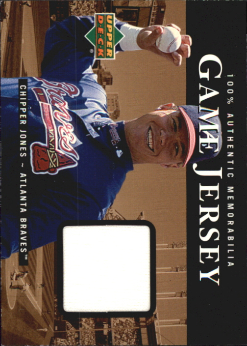 2000 Upper Deck Game Jersey #CJ Chipper Jones HR1