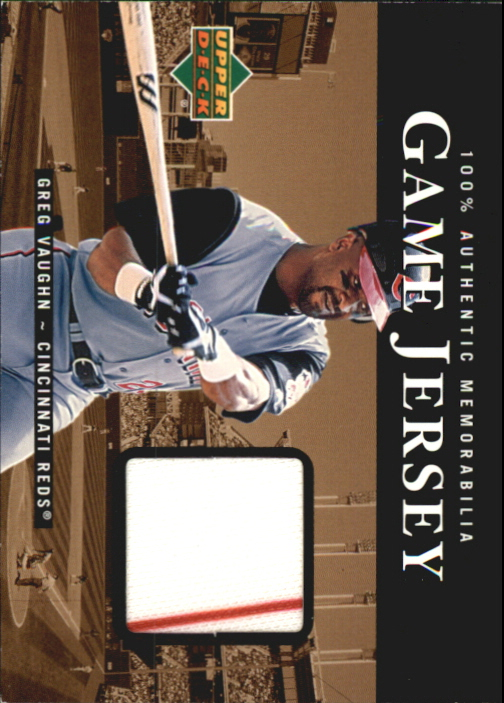 2000 Upper Deck Game Jersey #GV Greg Vaughn HR1