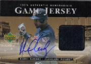 2000 Upper Deck Game Jersey Autograph #HMR Manny Ramirez