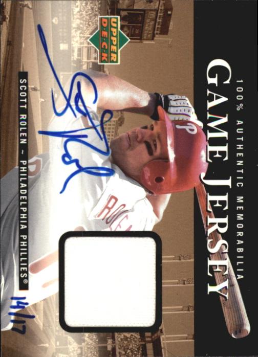 2000 Upper Deck Game Jersey Autograph Numbered #SR Scott Rolen/17 H2