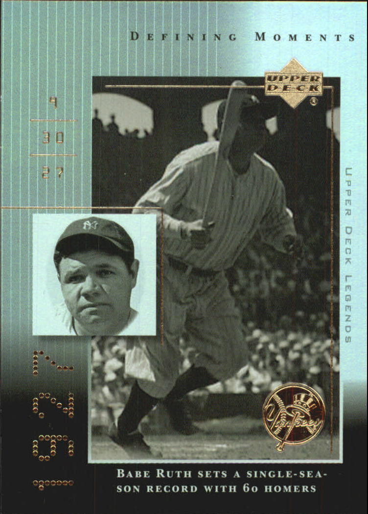2000 Upper Deck Legends Defining Moments #DM3 Babe Ruth