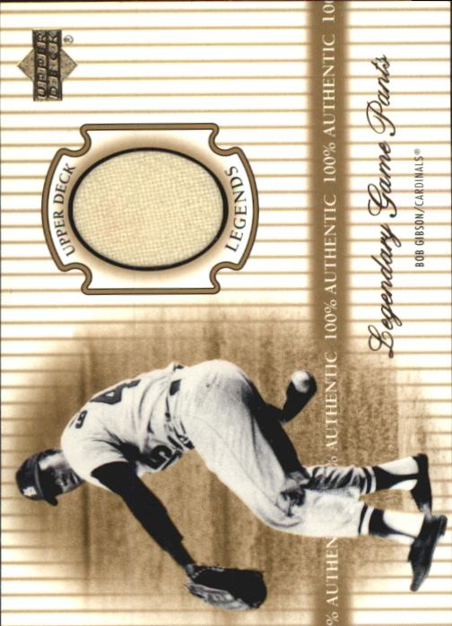 2000 Upper Deck Legends Legendary Game Jerseys #JBG Bob Gibson Pants