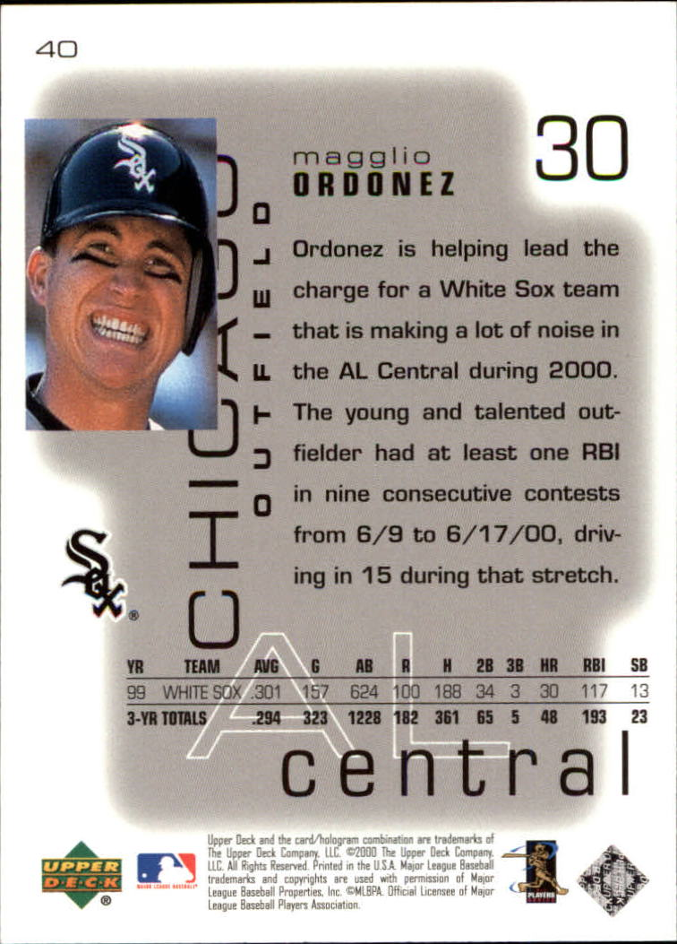 2000 Upper Deck Pros and Prospects #40 Magglio Ordonez back image