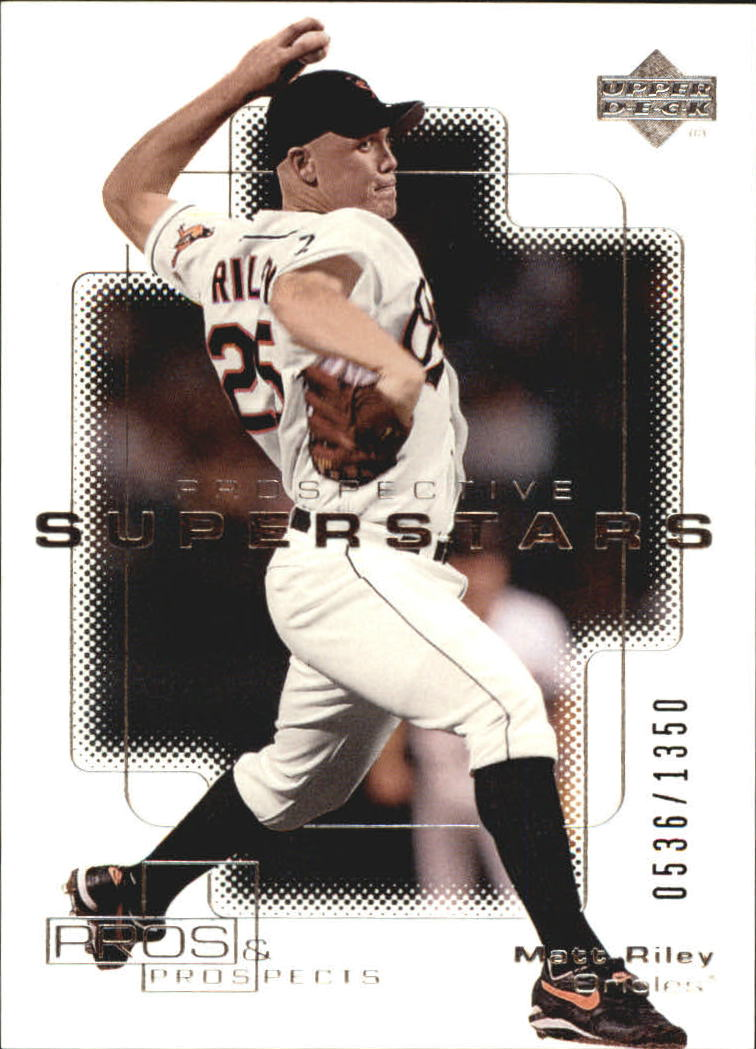 2000 Upper Deck Pros and Prospects #105 Matt Riley PS