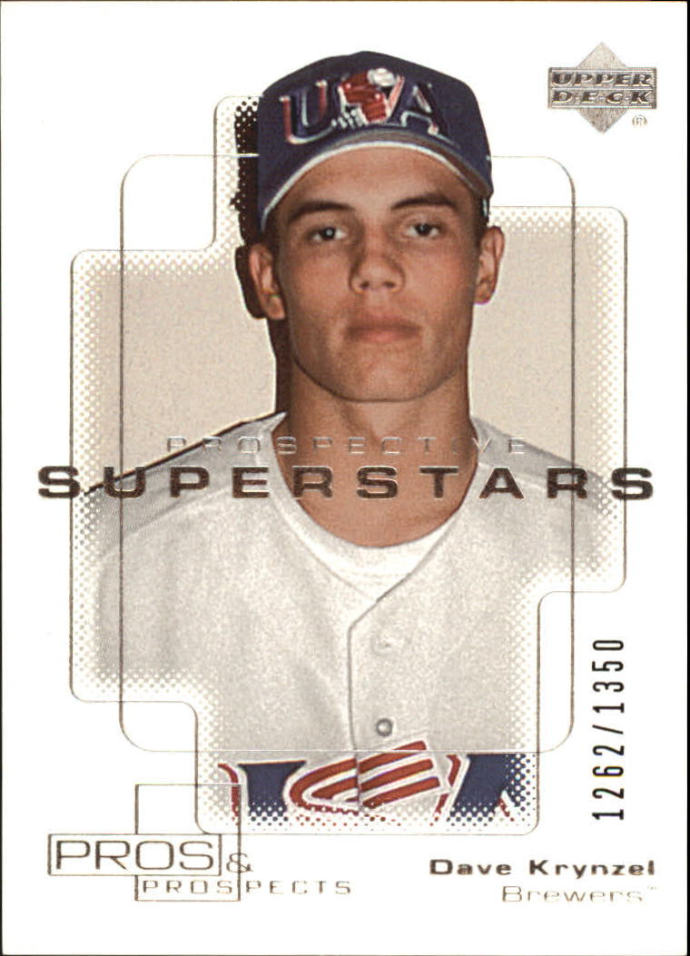 2000 Upper Deck Pros and Prospects #113 Dave Krynzel PS RC