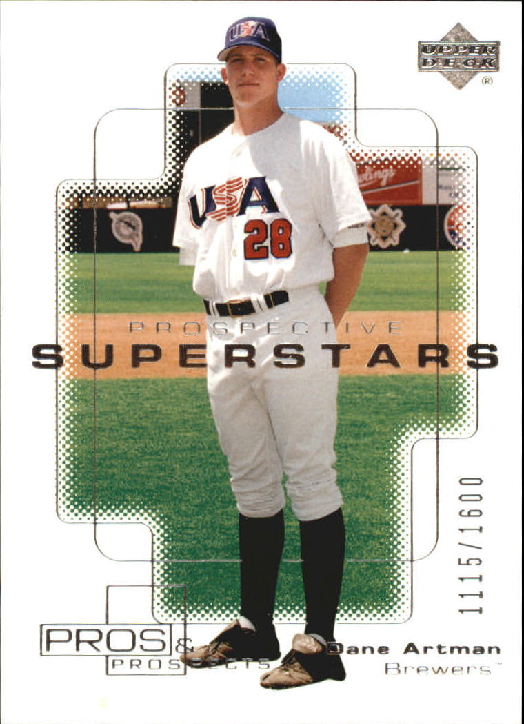 2000 Upper Deck Pros and Prospects #133 Dane Artman PS RC