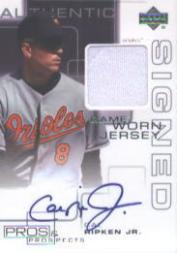 2000 Upper Deck Pros and Prospects Game Jersey Autograph #CR Cal Ripken
