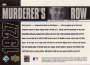 2000 Upper Deck Yankees Legends Murderer's Row #MR4 Lou Gehrig back image
