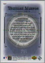 2000 Upper Deck Yankees Legends New Dynasty #ND7 Thurman Munson back image