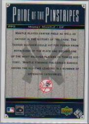 2000 Upper Deck Yankees Legends Pride of the Pinstripes #PP2 Mickey Mantle back image