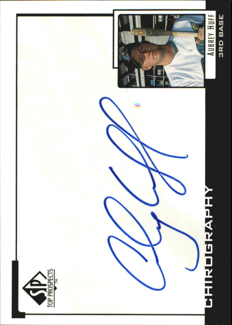 2000 SP Top Prospects Chirography #AH Aubrey Huff