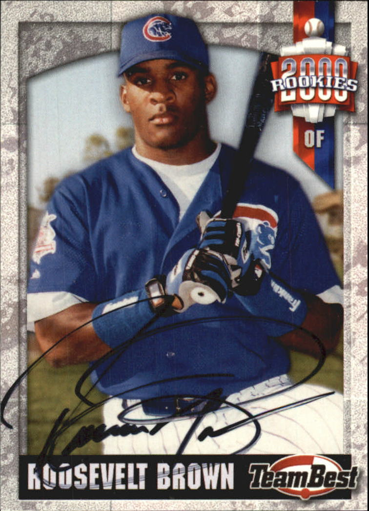 2000 Team Best Rookies Autographs #12 Roosevelt Brown S2