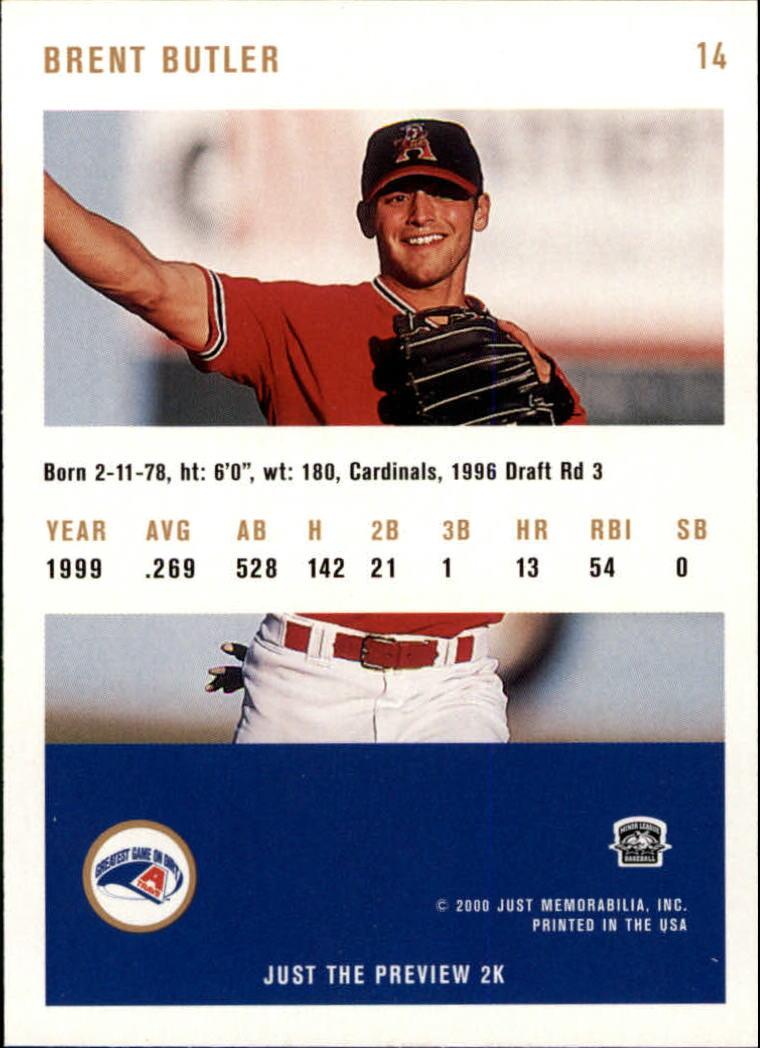 2000 Just #14 Brent Butler back image