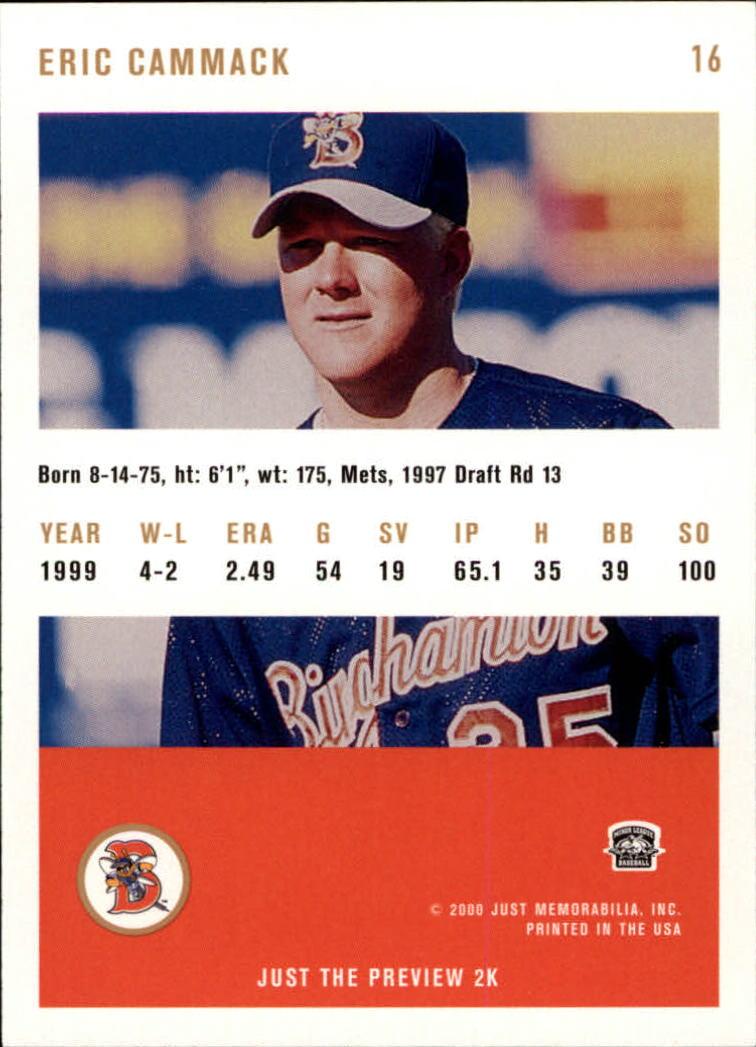 2000 Just #16 Eric Cammack back image