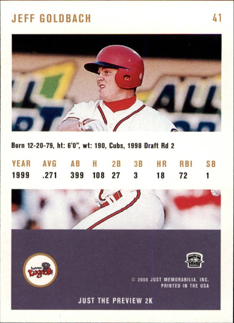 2000 Just #41 Jeff Goldbach back image