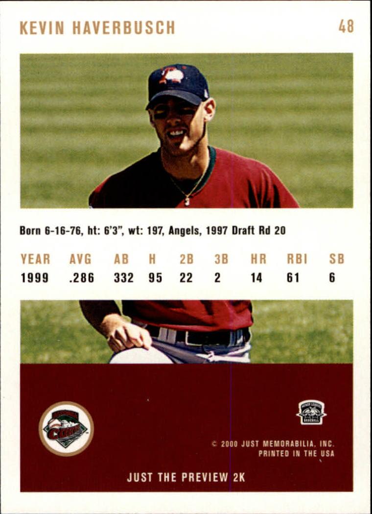 2000 Just #48 Kevin Haverbusch back image