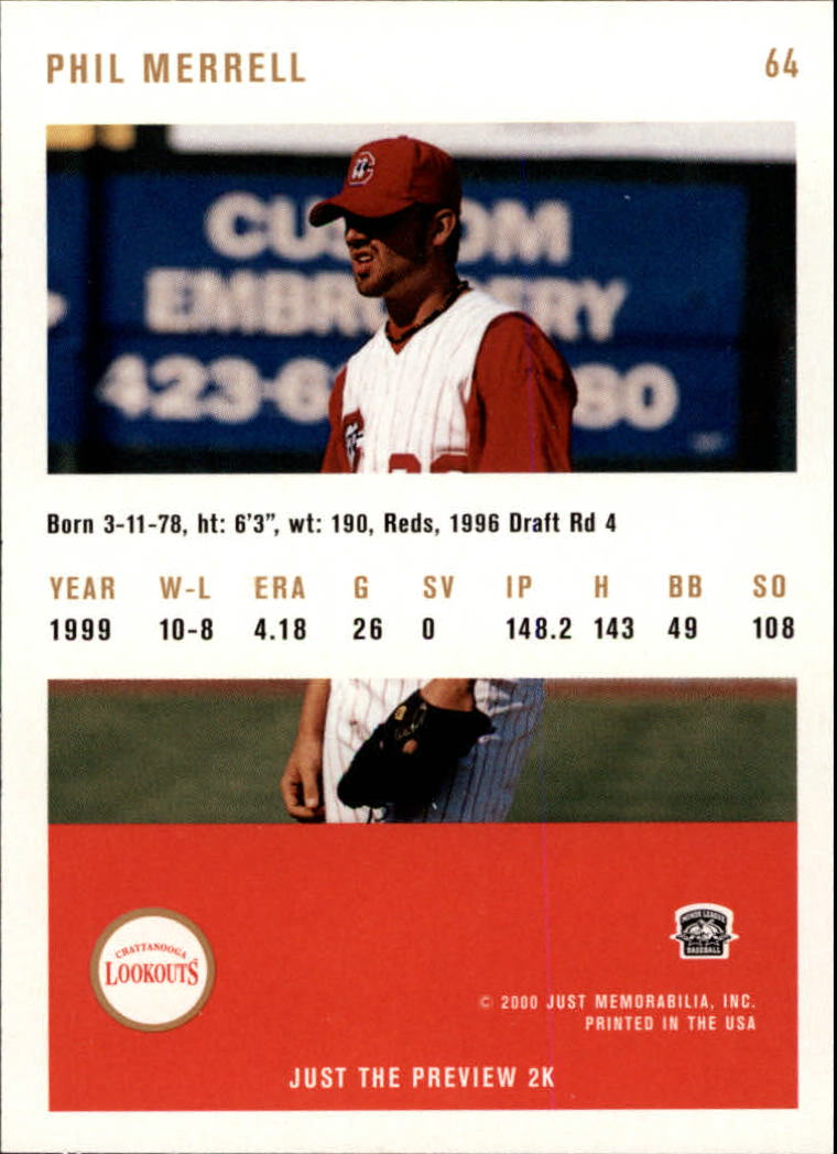 2000 Just #64 Phil Merrell back image