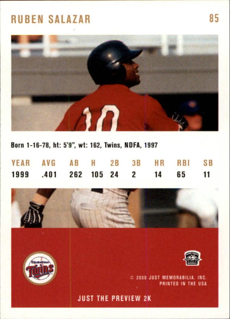 2000 Just #85 Ruben Salazar back image