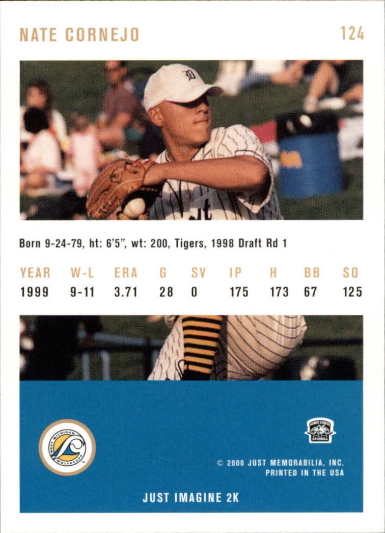 2000 Just #124 Nate Cornejo back image