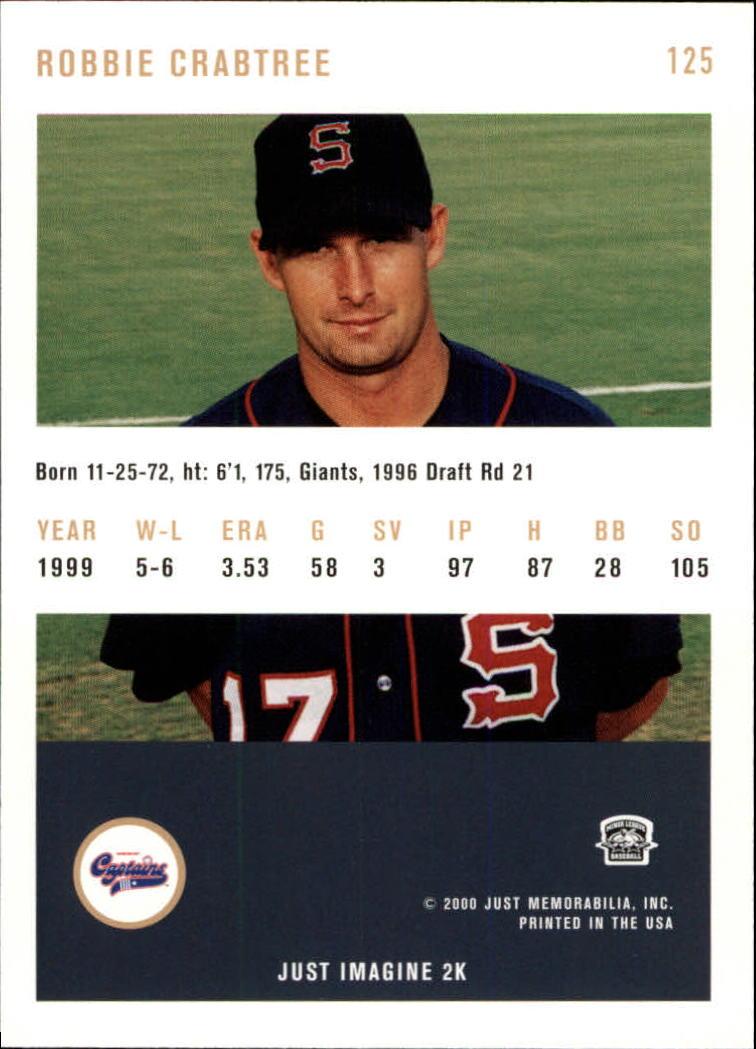 2000 Just #125 Robbie Crabtree back image