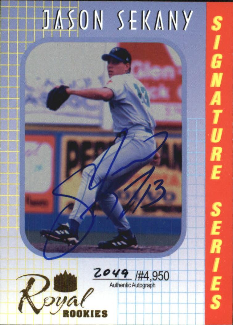 2000 Royal Rookies Autographs #6 Jason Sekany