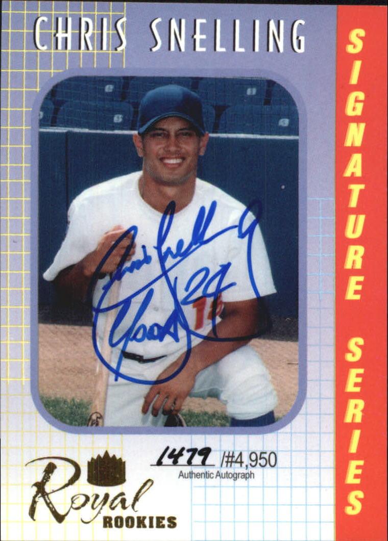 2000 Royal Rookies Autographs #10 Chris Snelling