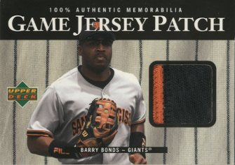 2000 Upper Deck Game Jersey Patch #PBB Barry Bonds 2