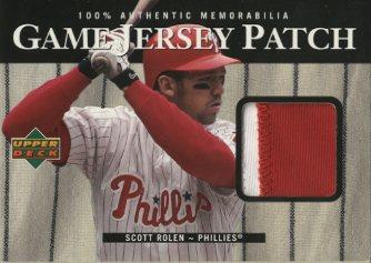2000 Upper Deck Game Jersey Patch #PSR Scott Rolen 2