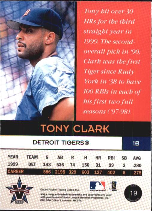 2000 Vanguard 19 Tony Clark Nm Mt