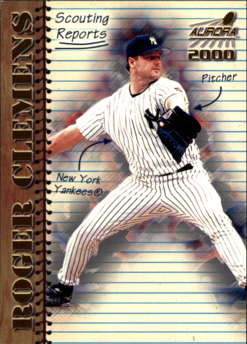 2000 Aurora Scouting Report #12 Roger Clemens