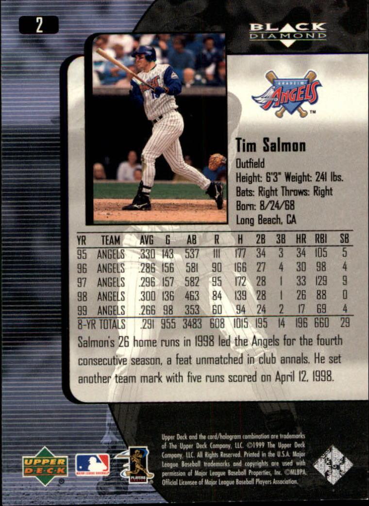 2000 Black Diamond #2 Tim Salmon back image