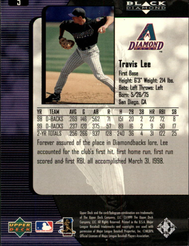 2000 Black Diamond #5 Travis Lee back image