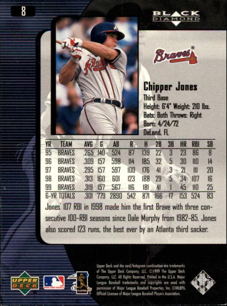 2000 Black Diamond #8 Chipper Jones back image
