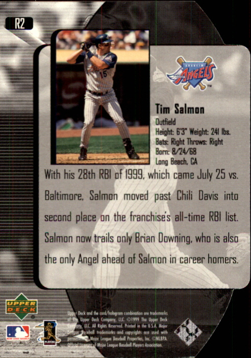 2000 Black Diamond Reciprocal Cut #2 Tim Salmon back image