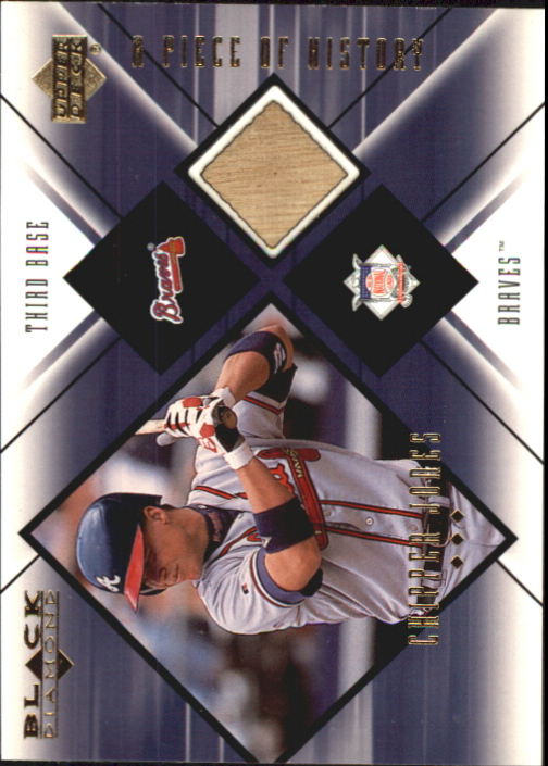 2000 Black Diamond A Piece of History #CJ Chipper Jones