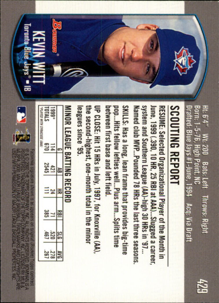2000-Bowman-Baseball-Cards-347-440-Pick-From-List thumbnail 89
