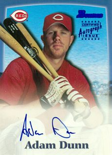 2000 Bowman Autographs #AD Adam Dunn B