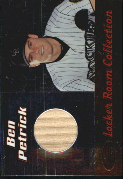 2000 Bowman's Best Locker Room Collection Bats #LRCLBP Ben Petrick