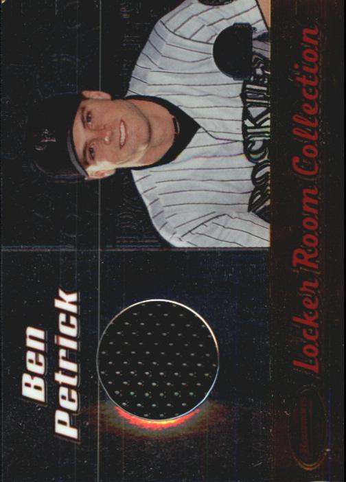 2000 Bowman's Best Locker Room Collection Jerseys #LRCJ4 Ben Petrick