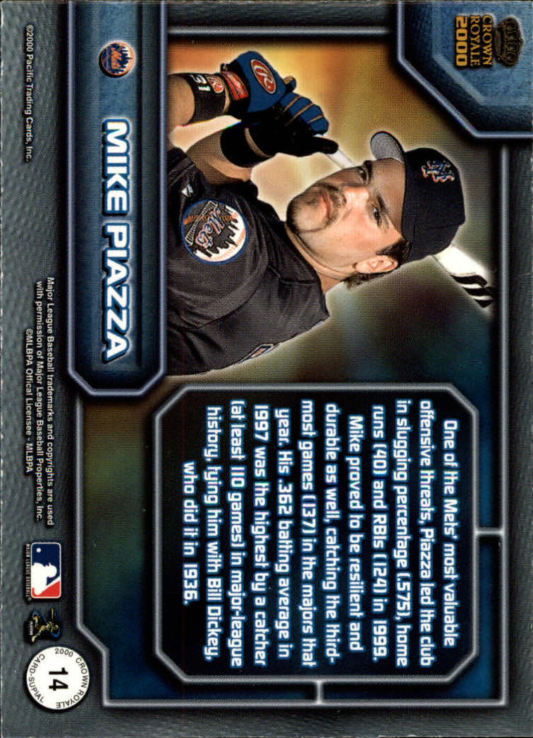 2000 Crown Royale Card-Supials #14 Mike Piazza back image