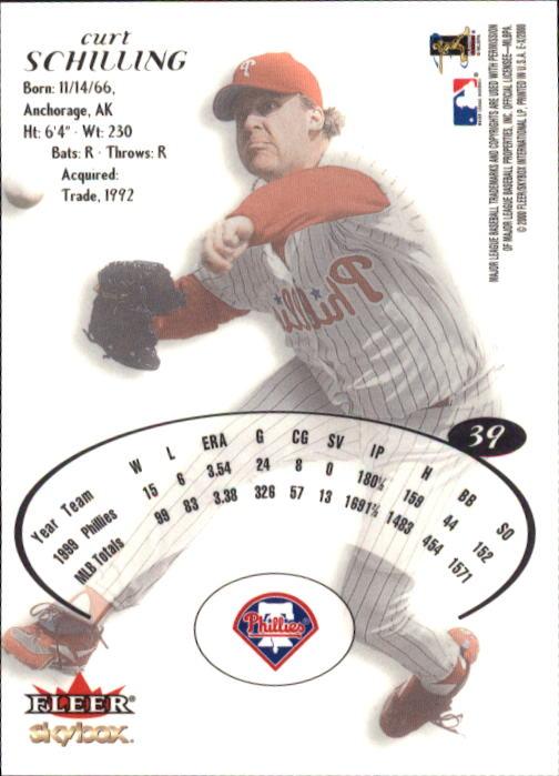 2000 E-X #39 Curt Schilling back image
