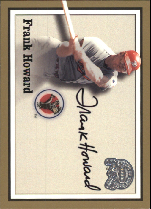 2000 Greats of the Game Autographs #35 Frank Howard